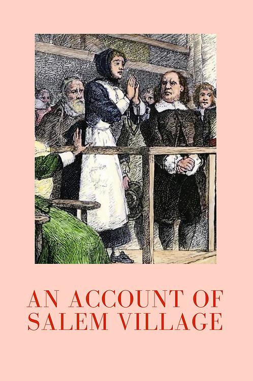 An Account of Salem Village