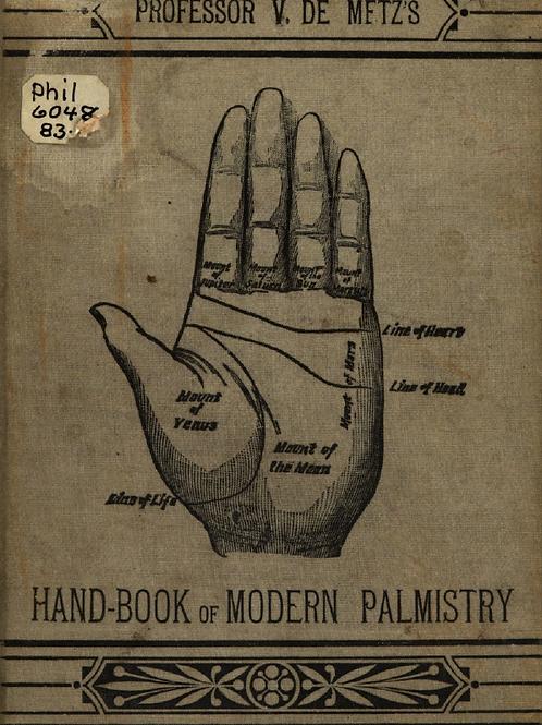 Handbook of Modern Palmistry - V De Metz