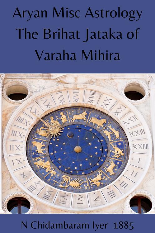 Aryan Misc Astrology -The Brihat Jataka of Varaha Mihira - N Chidambaram Iyer 18