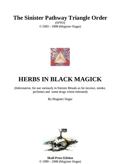 Herbs in Black Magick