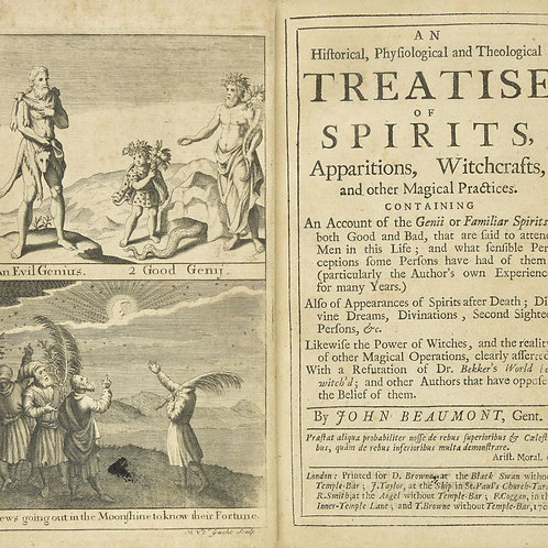 An Historical, Physiological And Theological Treatise Of Spirits 1705