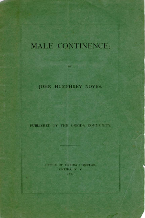 Male Continence - J H Noyes