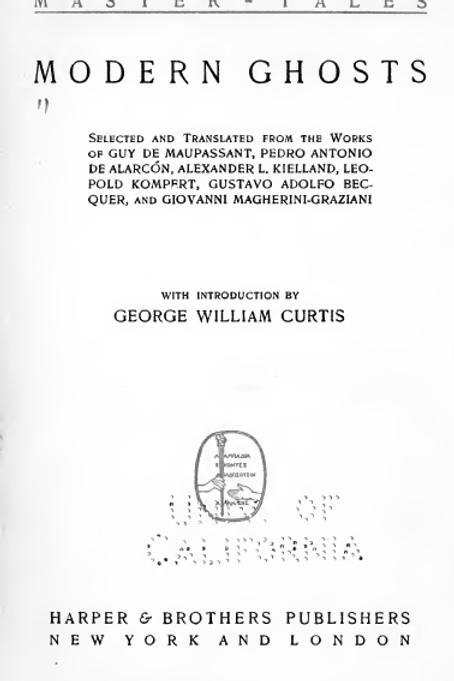 Modern Ghosts GW Curtis