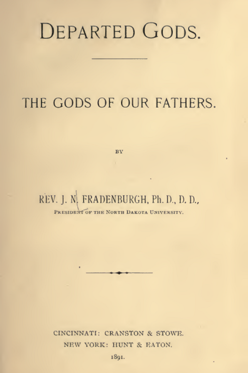Departed Gods - The Gods of our Fathers - JN Fradenburgh
