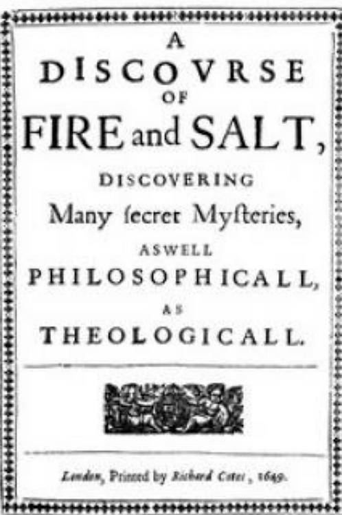 A Discovrse of Fire & Salt - Be de Vigenere 1649