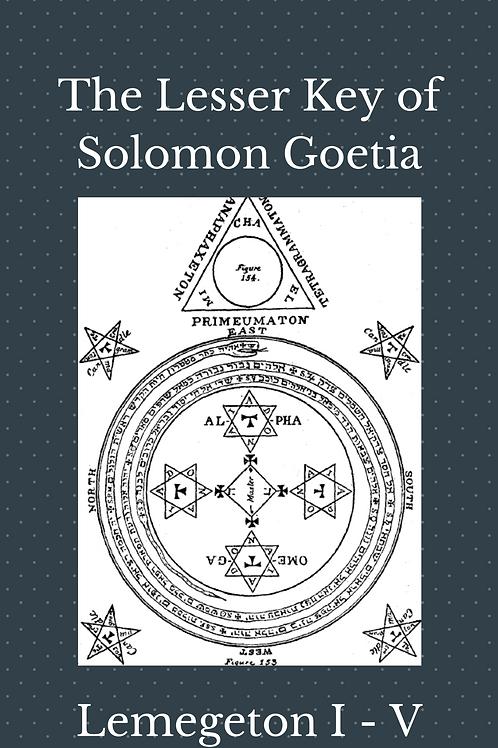 Lemegeton I- V The Lesser Key of Solomon