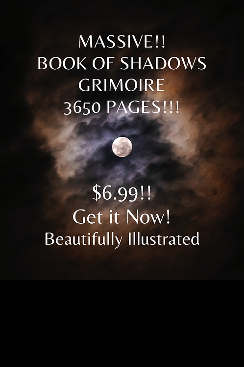 Massive!! 3650 Page Book of Shadows Grimoire