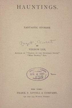Hauntings, Fantastic Stories - V Lee 1906