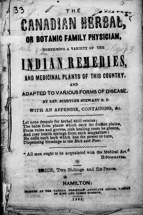 The Canadian Herbal Indian Remedies