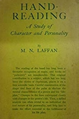 Handreading a Study of Character & Personality - M N Laffan 1932