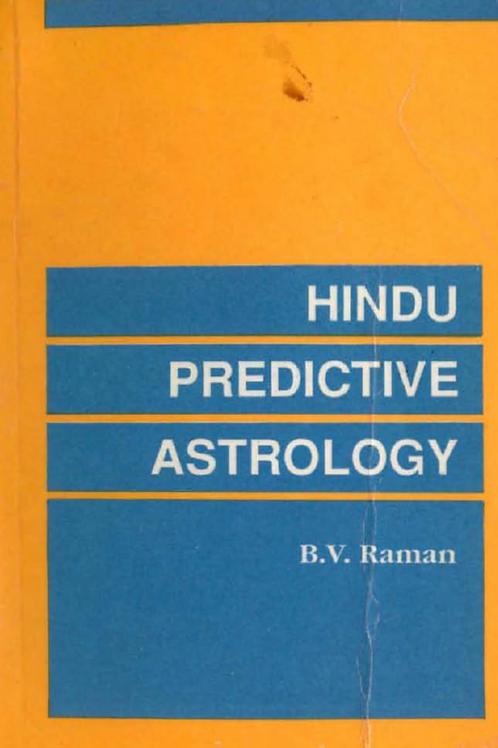 Hindu Predictive Astrology - B V Raman 1996