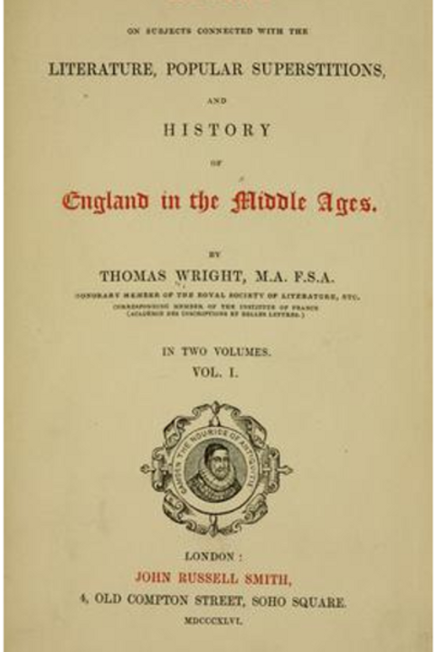 Literature, Popular Superstitions, and History of England in the Middle Ages