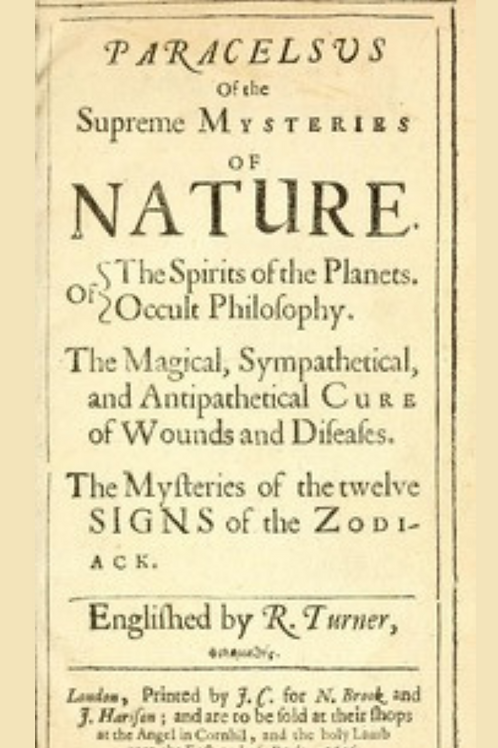 Paracelsus of the Supreme Mysteries of Nature - R Turner