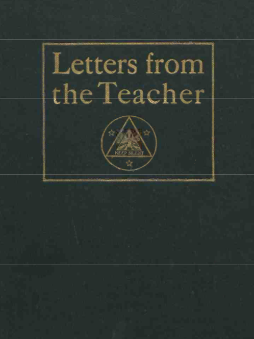 Letters From The Teacher of The Order Of The 15  1909