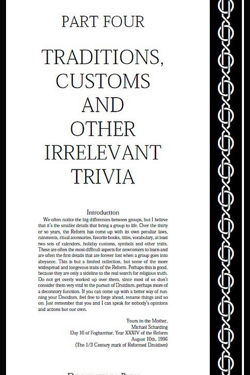 Laws, Trivia and Calendars - A Reformed Druid Anthology
