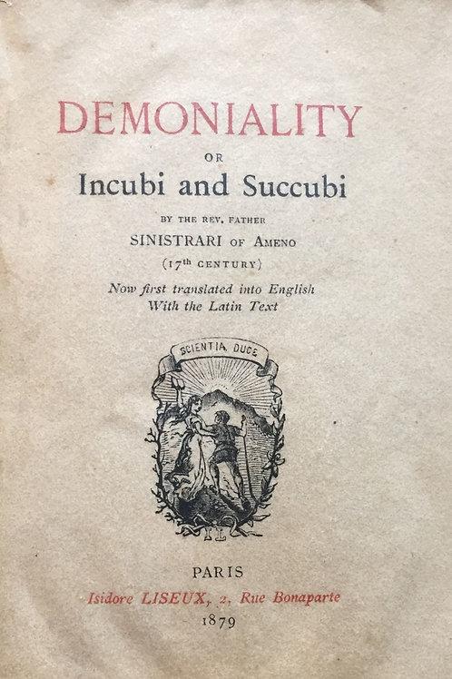 Demoniality or Incubi Succubi  Rev Sinistari