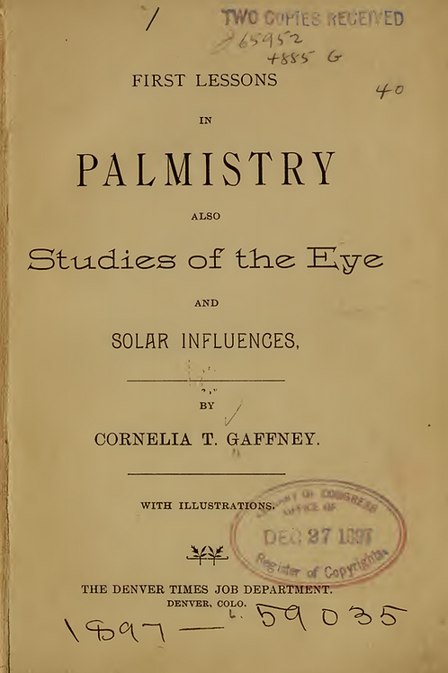 First Lessons of Palmistry