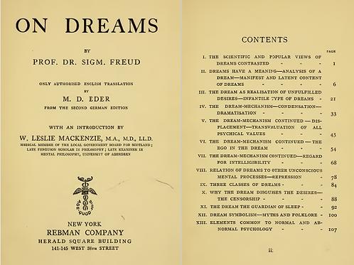 On Dreams - S Freud 1914