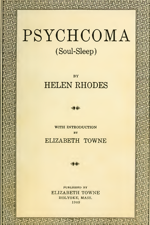 Psychoma (Soul Sleep) - H Rhodes
