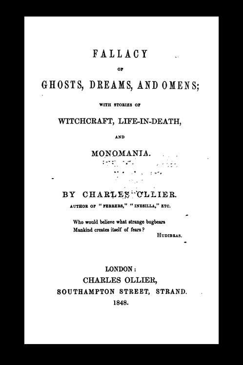 Fallacy of Ghosts, Dreams and Omens - Charles Cllier