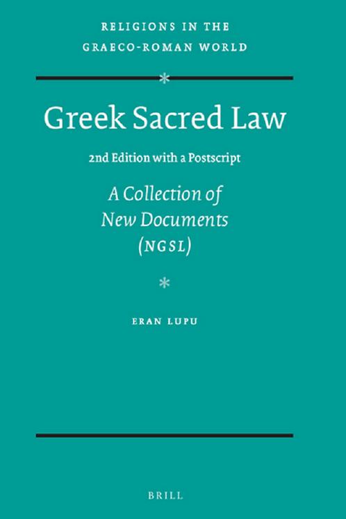 Greek Sacred Law - Eran Lupu