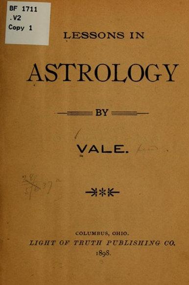 Lessons in Astrology - J Erickson 1898