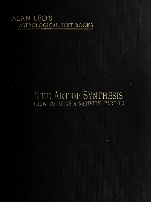 The Art of Synthesis - A Leo 1912