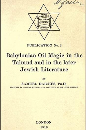 Babylonian Oil Magic - S Daiches