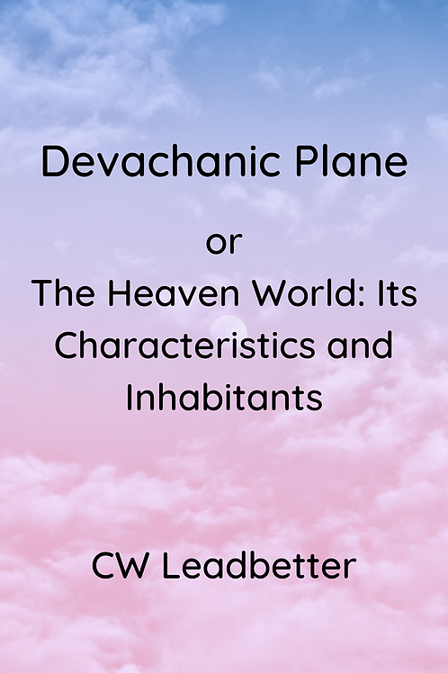 Devachanic Plane - CW Leadbetter