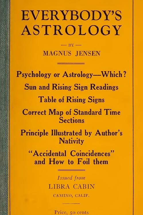 Everybody's Astrology - M Jensen 1922