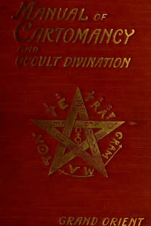 A Manual of Cartomancy, Fortune-Telling & Occult Divination - A E Waite 1909