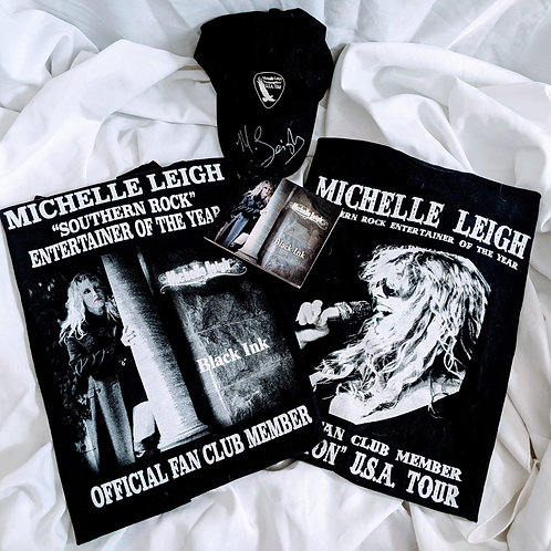 Michelle Leigh Combo - Black Ink T-Shirt-CD- Auto Cap