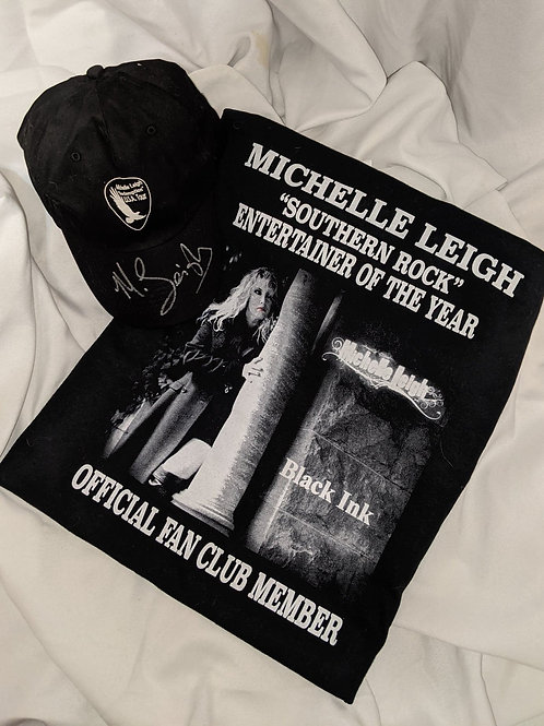 Michelle Leigh Combo - Black Ink T-Shirt & Cap**New Website Special**
