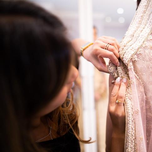 Asian bridal dressing