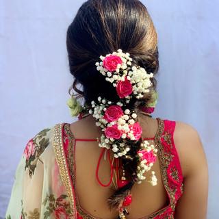 Mehndi Party Hair