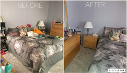 Headley bedroom before and after 2