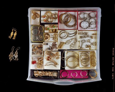 Fifty-Five Pairs of Earrings and Five Solo Earrings, Stored