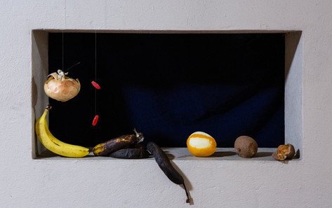 Not Sanchez-Cotan's Still Life of Quince, Cabbage, Melon and Cucumber