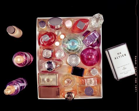 Twenty-Eight Perfume Bottles, Stored