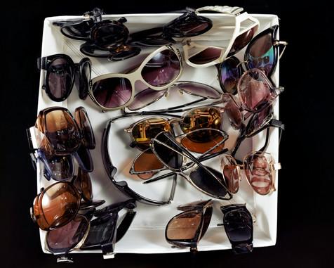 Twenty-Two Pairs of Sunglasses, Stored