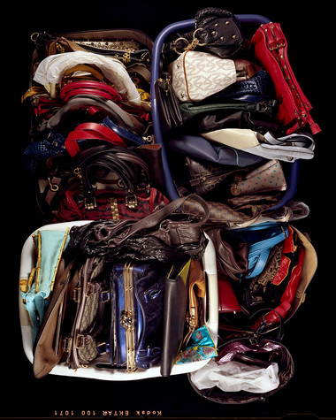 Sixty-Five or Sixty-Six Purses Stored