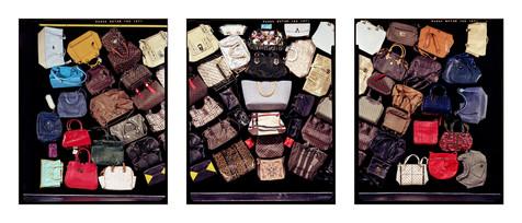 Sixty-Five or Sixty-Six Purses, triptych