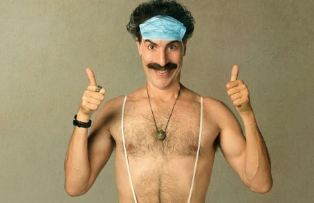Borat: O lado sombrio do sonho americano.