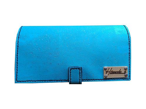 PORTE CHÉQUIER FLORIAN -Bleu turquoise