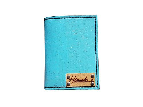 PORTE CARTE ARTHUR - Bleu turquoise