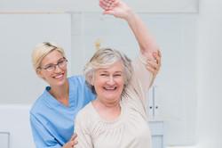 arm raised rehab