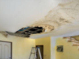 Leak Detection Services - Water Damage Restoration Services - Plumbin Leak Ceiling Needing Repairs -Call your best plumbers near me