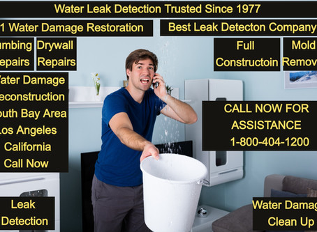 Water Damage Restoration - Water Leak Detection - South Bay Area California