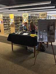 Anatomy of a Ghost book signing, Seaford, Library