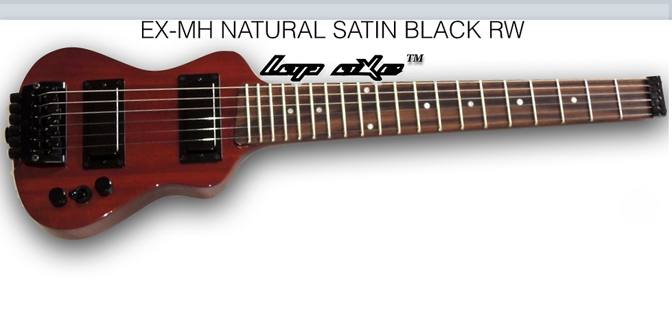 Short scale travel guitar with rosewood fingerboard.